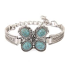 Heren Dames Vintage Armbanden Uniek ontwerp Modieus Birthstones Geboortestenen Turkoois Legering Dierenvorm Sieraden Vlinder Sieraden Voor