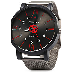 Men's Fashion Dial Black Steel Band Quartz Wristwatch Wrist Watch Cool Watch Unique Watch