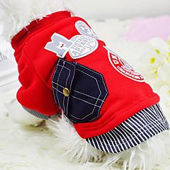 Perros Camiseta / Ropa / Ropa Rojo / Gris Verano / Primavera/Otoño Clásico / Letra y Número Moda-Lovoyager