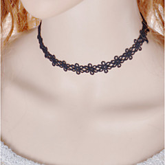 Halsband Choker-Halsband / Halsring / Gotiska smycken Smycken Spets / Tyg Bröllop / Party / Dagligen / Casual Svart 1st Present