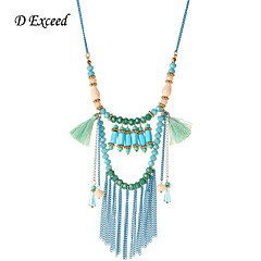 D Exceed 2016 New Handmade Beaded Pendant Long Bohemian Necklace For Woman's Gifts