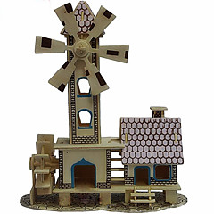 Childishness Hut Wood 3D Puzzles Diy Toys