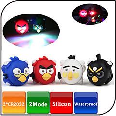 Luci bici,Luci di coda / luci di sicurezza-2 Modo 80 Lumens Impermeabile / Colori che cambiano CR2032x2pc CR2032 battery Batteria