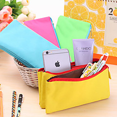 Three Layers Of High-Capacity Zipper Pen Bag Creative Men And Women Canvas Multi-Functional Stationery Pencil Case