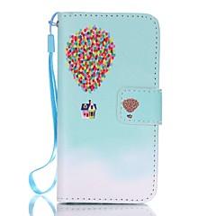 For iPhone 5 etui Pung / Med stativ / Flip Etui Heldækkende Etui Ballon Hårdt Kunstlæder iPhone SE/5s/5
