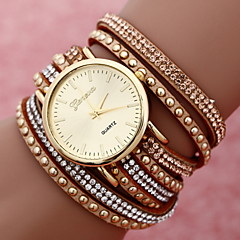 Women's Fashion Quartz Two Laps Around Bracelet Watch Weave Band Cool Watches Unique Watches