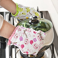 Glove Microwave BBQ Oven Cotton Baking Pot Mitts Cooking Heat Resistant Kitchen
