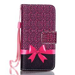Voor iPhone 5 hoesje Patroon hoesje Volledige behuizing hoesje Luipaardprint Hard PU-leer iPhone SE/5s/5