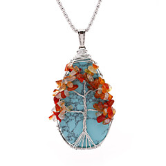 Explosion models natural crystal gravel Tree of Life pendant handmade wound round Lucky tree ornaments