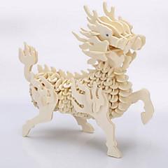 Puzzle Puzzle 3D / Modellini di legno Costruzioni Giocattoli fai da te Legno Beige Modellino e gioco di costruzione