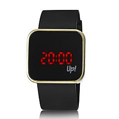 Мужской / Женские / Унисекс Модные часы Цифровой LED силиконовый Группа Черный бренд-