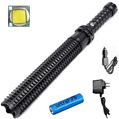 LED taskulamput LED 3 Tila 3800 LumeniaVedenkestävä / ladattava / Iskunkestävä / Lipsumaton kädensija / Isku viiste / Hätä /