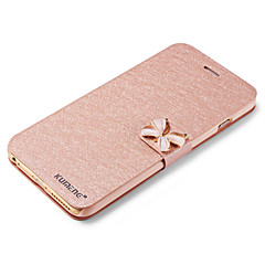 For iPhone 6 etui iPhone 6 Plus etui Kortholder Med stativ Flip Etui Heldækkende Etui Glitterskin Hårdt Kunstlæder for AppleiPhone 6s