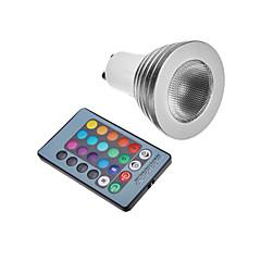 GU10 3W 100 LM RGB Remote-Controlled LED Spotlight AC 100-240 V