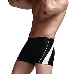 Sportief Heren Zwemkleding Ademend / Compressie / Zweetafvoerend Badmode Bottoms Push Up Snaren Geel / Wit / Zwart / BlauwWit / Zwart /