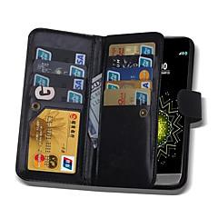 Mert LG tok Kártyatartó / Pénztárca / Flip / Mágneses Case Teljes védelem Case Egyszínű Kemény Műbőr LG LG G5 / LG G4 / LG G3