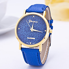 Women's Fashion Watch Casual Watch Quartz / PU Band Flower Casual Blue Purple Navy LightBlue Purple Navy