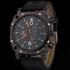 男性 軍用腕時計 ファッションウォッチ クォーツ カジュアルウォッチ レザー バンド シルバー 多色 ブランド