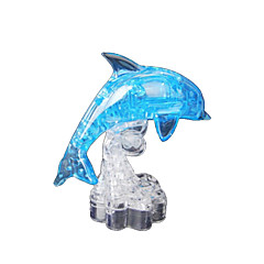 Jigsaw Puzzles 3D Puzzles / Crystal Puzzles Building Blocks DIY Toys Dolphin ABS Blue Model & Building Toy