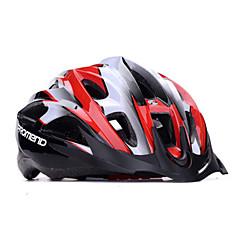 promend® unisex sport fietshelm / led verlichting voor de veiligheid 21vents beschermende rit helm / berg / weg fietsen