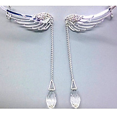Oor manchetten Strass Legering Wings U-vormige Zilver 1 2 Sieraden Voor Bruiloft Feest Dagelijks Causaal