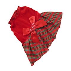 Perros Vestidos Rojo Ropa para Perro Invierno Ajedrez