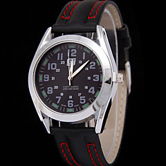 Men's Double Scale Belt Quartz Watch