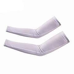 Ærmer Cykel Hurtigtørrende letvægtsmateriale Solcreme Unisex Hvid Spandex Polyester