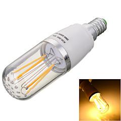 4W E14 LED-glødetrådspærer T 4 COB 300-400lm lm Varm hvid Kold hvid Dekorativ Vekselstrøm 85-265 V 1 stk.