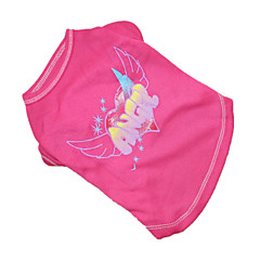 Psy T-shirt Różowy Ubrania dla psów Lato Anioł i Diabeł / Litera i numer Cosplay