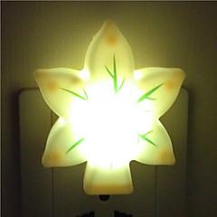 kreativa varmvitt lämnar ljussensor som rör barnet sova nattlampa (slumpvis färg)