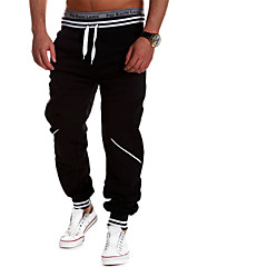 Men's Casual Pants European Style Hit Color Stitching Casual Sports Trousers