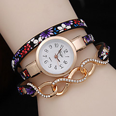 Women's Three Winding Folk Style Floral Twist Bracelet Watch Cool Watches Unique Watches