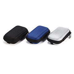 1pc sd hold tilfælde opbevaring transporterer hårdt fiber taske boks til øretelefon hovedtelefon øretelefoner 10,5 * 5,5 * 2 cm sort grå