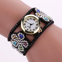 Women's Quartz Analog White Case Flower Leather Band Bracelet Wrist Watch Jewelry Cool Watches Unique Watches Fashion Watch
