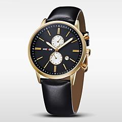 WEIDE® Men Fashion Quartz Analog Watch Leather Strap Luxury Brand Cool Watch Unique Watch