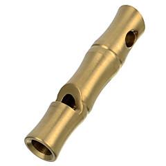 Fura utendørs overlevelse høy decibel leval rustfritt stål fløyte - golden / multi-farge (kort størrelse)