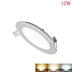 12W Paneellampen 60pcs SMD 2835 1050-1100lm lm Warm wit / Koel wit / Natuurlijk wit Dimbaar / Decoratief AC 85-265 V 1 stuks