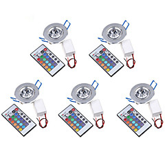 5pcs MORSEN® 3W 200-250LM LED RGB Ceiling Light with Remote Controller Wall Lamp Lighting