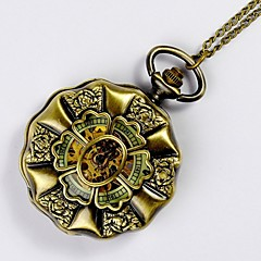 Unisex Pocket Watch Large Gold Face Retro Big Lotus Luminous Face Mechanical Pocket Watch Cool Watches Unique Watches Fashion Watch