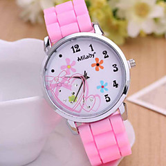Women's Fashionable Leisure Flower Silicone Watch Silicone Band Cool Watches Unique Watches