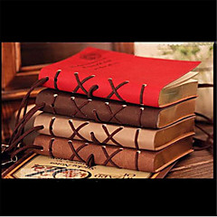 320 Pages Korea Retro European Imitation leather Surface Creative Notebook (Random Color)