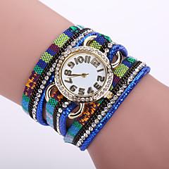 Dames Modieus horloge Kwarts Leer Band Bloem Zwart / Wit / Blauw / Orange / Bruin / Roze Merk-