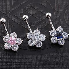 Kadın Vücut Mücevheri Navel & Bell Button Rings Eşsiz Tasarım Moda kostüm takısı Paslanmaz Çelik Mücevher Mücevher Uyumluluk Günlük