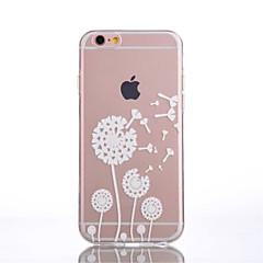 For iPhone 6 Case / iPhone 6 Plus Case Transparent / Pattern Case Back Cover Case Dandelion Soft TPU iPhone 6s Plus/6 Plus / iPhone 6s/6
