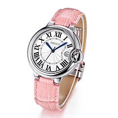 Damen Modeuhr Quartz Kalender / Wasserdicht / Sportuhr / Armbanduhren für den Alltag Leder Band Schwarz / Rot / Braun / Rosa Marke-
