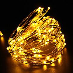 fil de cuivre 10m étanche lumière de chaîne conduit DC12V 100LED fête noël fête en plein air de lumière de décoration