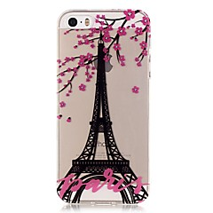 For iPhone 5 Case Ultra-thin / Transparent / Pattern Case Back Cover Case Eiffel Tower Soft TPU iPhone SE/5s/5