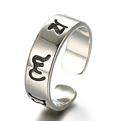 Ringen Modieus / Verstelbaar Dagelijks / Causaal Sieraden Sterling zilver Dames / Heren Midiringen / Bandringen 1 stuks,One-Size Zilver