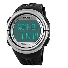 SKMEI Férfi Női Unisex Sportos óra digitális karóra DigitálisLCD Naptár Kronográf Vízálló riasztás Szívritmus monitorizálás Fénylő